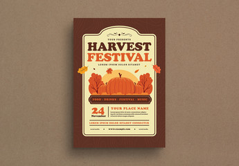 Harvest Event Graphic Flyer Layout