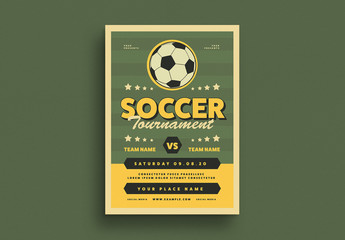 Soccer Event Graphic Flyer Layout