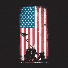 Marine Corps War Memorial Iwo Jima Statue Silhouette Arlington, Virginia  World War 2