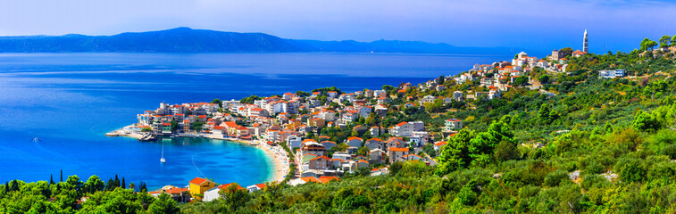 Amazing Adriatic coast. Beautiful beaches and villages of Croatia - Igrane in Makarska riviera