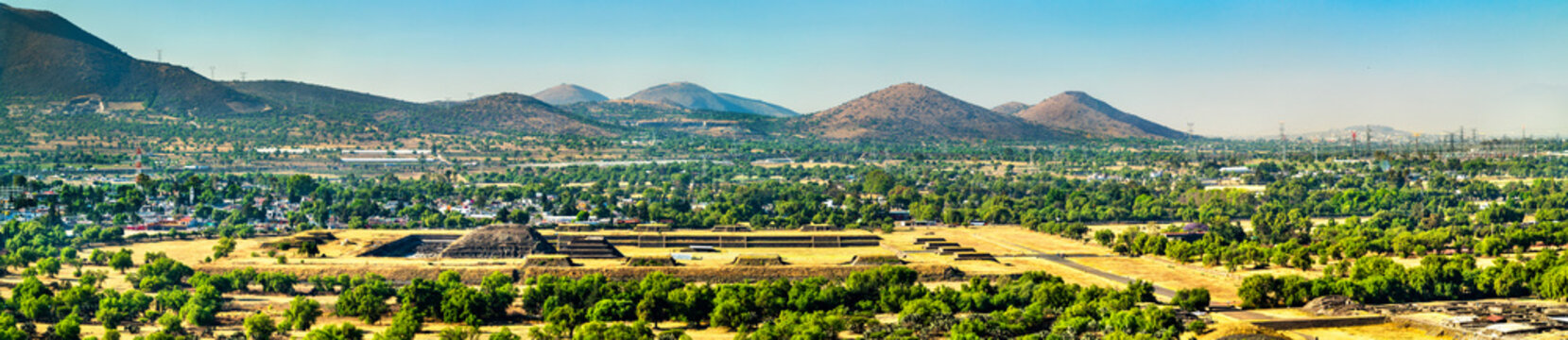 View of Teotihuacan in Mexico