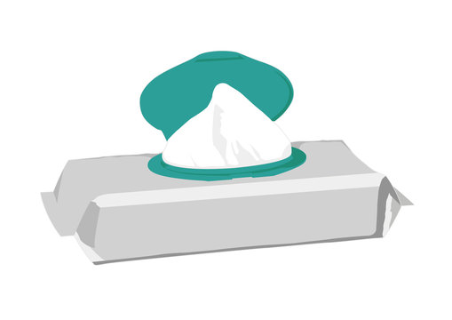 Wet wipe realistic vector illustration isolated