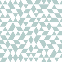 Geometric vector pattern with light blue and white triangles. Geometric modern ornament. Seamless abstract light blue and white background