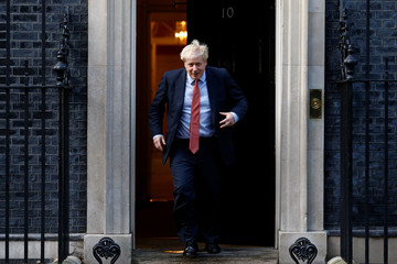 European Parliament President David Sassoli meets Britain's Prime Minister Boris Johnson in London