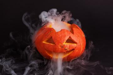 Jack-o-Latern. Halloween pumpkin. Halloween background