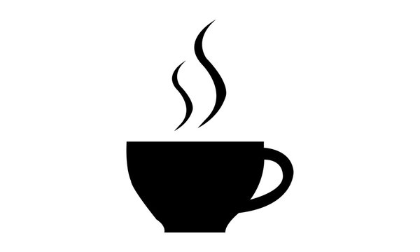 coffee cup of drink with smoke vector design illustration