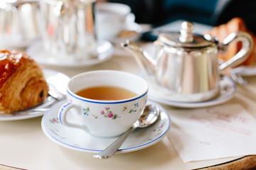 Tea with Croissant