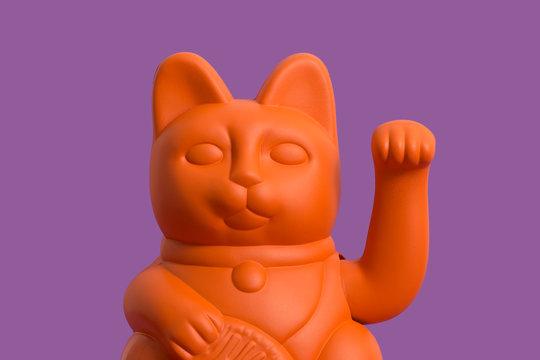 Orange Lucky Cat