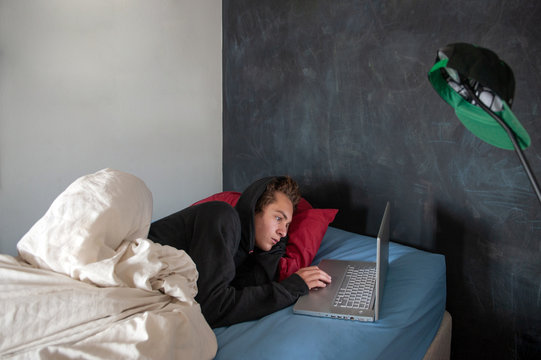 Teenager and Computer