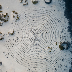 Mystic spiral in the landscape