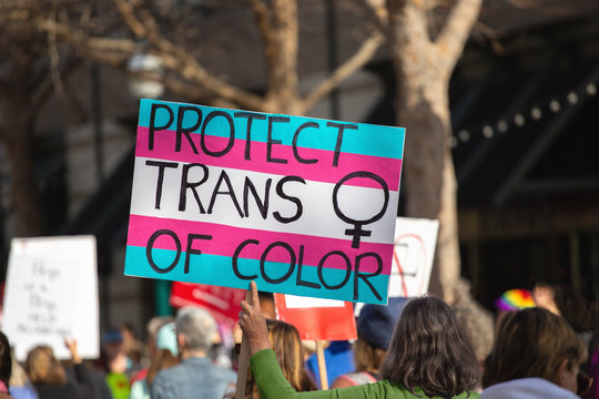 Protect trans women of color protest sign