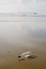 No message in a bottle.