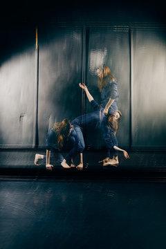 Professional ballet dancer on stage.
