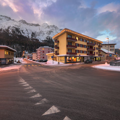 Fotomurales - St Moritz in the Morning, Switzerland