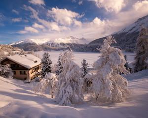 St Moritz on the Sunny Day, Switzerland