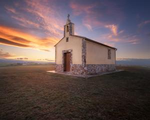 Ermita de San Lorenzo Church in Santa Gadea, Tapia de Casariego, Asturias, Spain