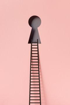 Ladder and lock