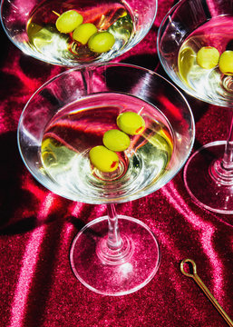 Close up of martini served in glass