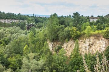 Fototapeta Old quarry in the area of the Krak Mound in Krakow obraz