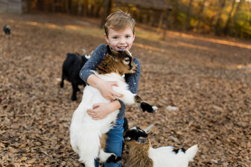 Little Boy and A Goat