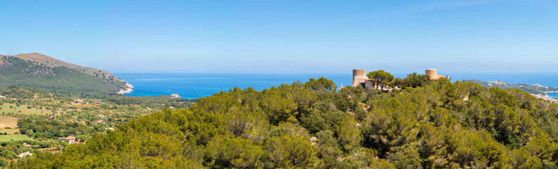 Scenic landscape of Capdepera region, north-east coast of Mallorca, Spain.