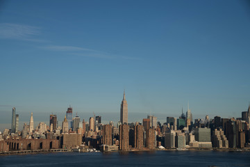 The New York Midtown Skyline, as seen from Brooklyn.