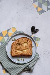 grilled cheese toast for Halloween