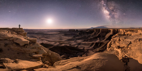 Photographer captures the Milky Way with moonlight
