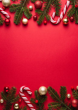 Merry Christmas and happy New Year vertical background