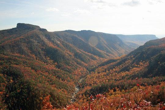 Linville Gorge in Autumn, North Carolina