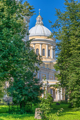 Holy Trinity Cathedral of the Alexander Nevsky Lavra  in Saint Petersburg, Russia