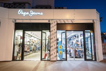 TENERIFE, SPAIN- FEBRUARY 29: Pepe Jeans recently opened store on February 29, 2016 in Tenerife, Spain.
