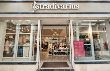 TENERIFE, SPAIN - FEBRUARY 20: Stradivarius store at Parque Santiago mall on February 20, 2016 in Tenerife, Canary island, Spain.