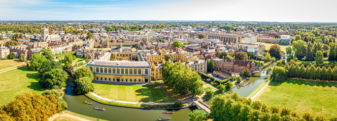 Aerial view of Cambridge, United Kingdom Wall mural