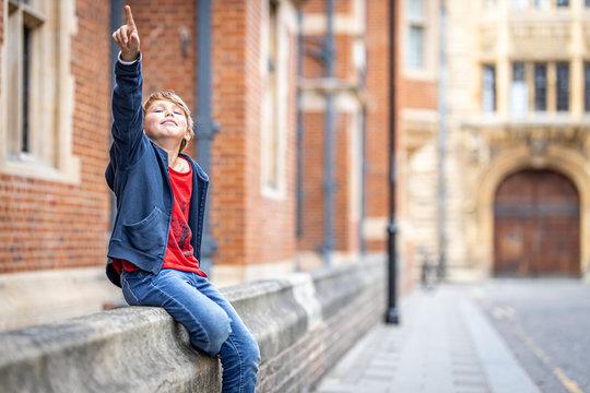 Boy portrait in Cambridge, United Kingdom