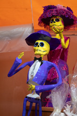 Keuken foto achterwand Hoogte schaal Representative figure of the celebration of the day of the dead. This is used for altars that are used to remind loved ones that have departed from this world