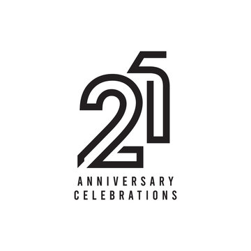 21 Years Anniversary Celebration Vector Template Design Illustration