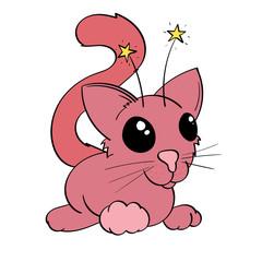 Pink Alien Cat