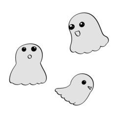 Cute Cartoon Ghosts