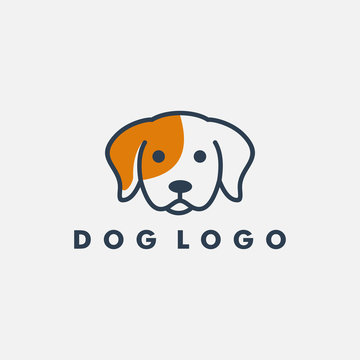 Dog logo design template vector illustration