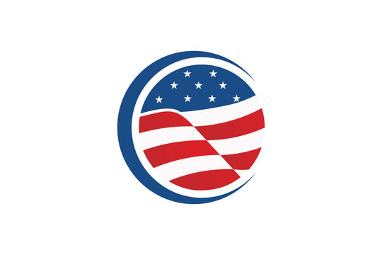 USA logo icon vector isolated