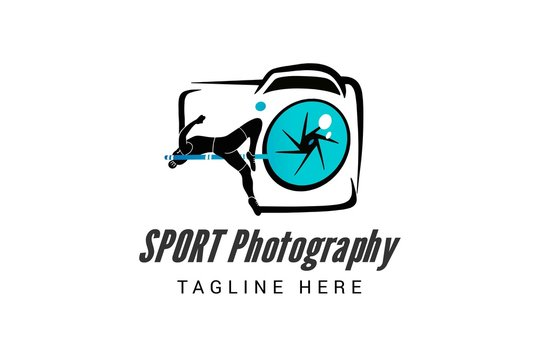 Sport photography logo template