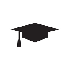Graduation cap graphic design template vector isolated