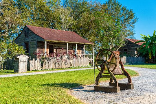 Slave Cabin of a historic Sugar Cane Plantation in Louisiana, USA