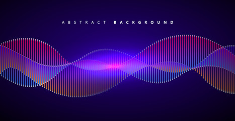 Colorful lines constitute an abstract background, vector graphic.