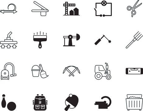equipment vector icon set such as: cryptocurrency, perfect, torch, hygiene, tailor, press, commerce, table, ingredient, cut, girl, nature, voltage, fork, field, magnetic, mri, transportation, hot