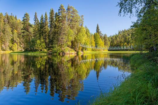 Fall colors in Oulanka National Park, Kuusamo, Finland