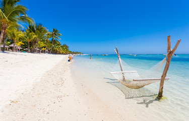 tropical beach in Mauritius, Morne Brabant