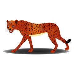 Angry Cheetah - Cartoon Vector Image