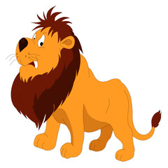 Angry Lion - Cartoon Vector Image
